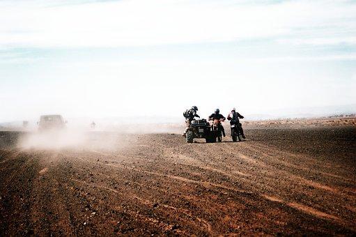 Motorcycle, Motocross, Moto, Desert