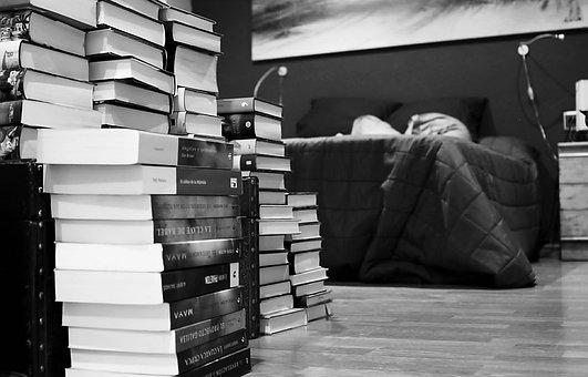 書籍, 本, 読書, 文学, ベッド, その他のコメント, コレクション