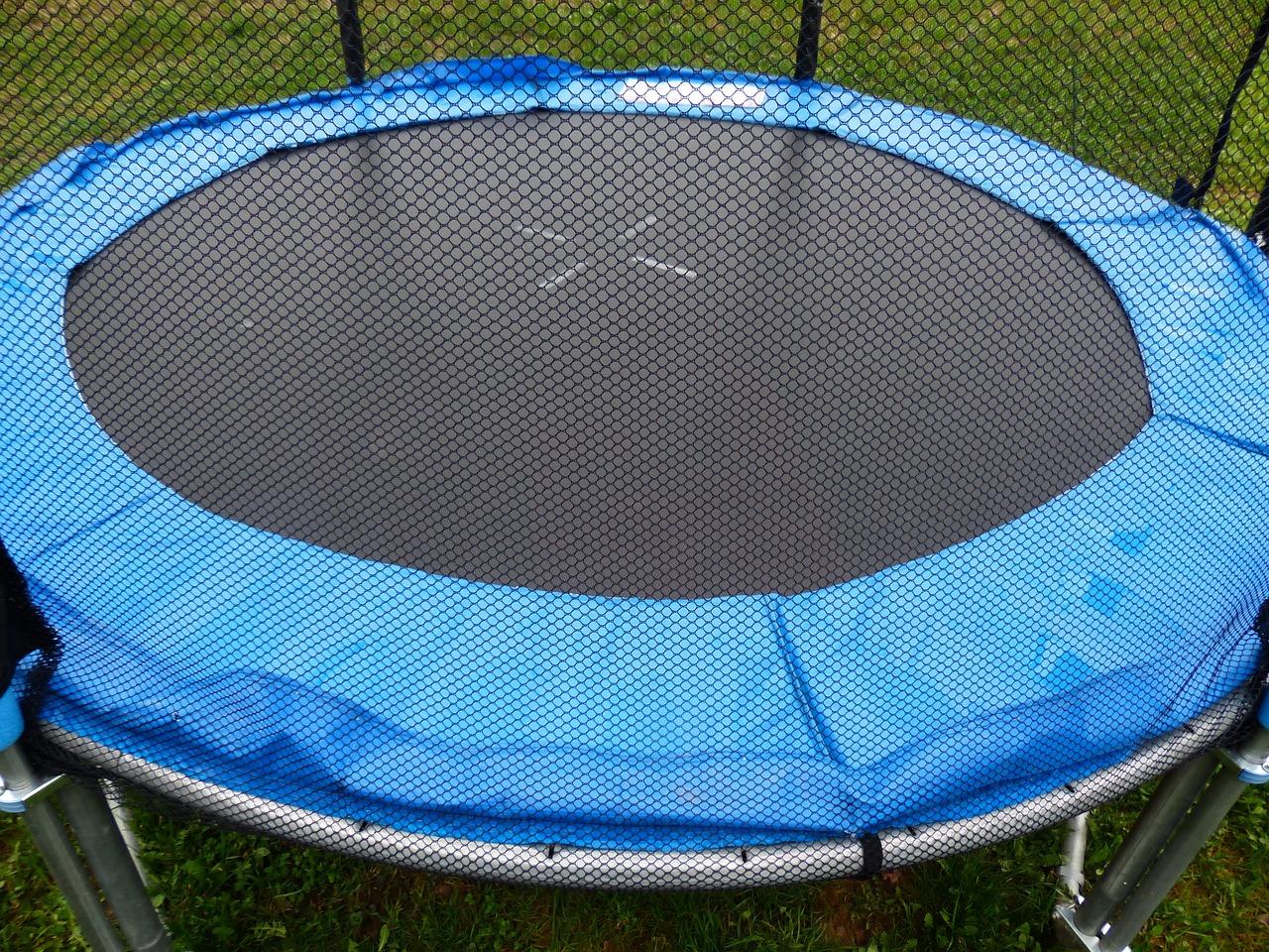 blue round trampoline