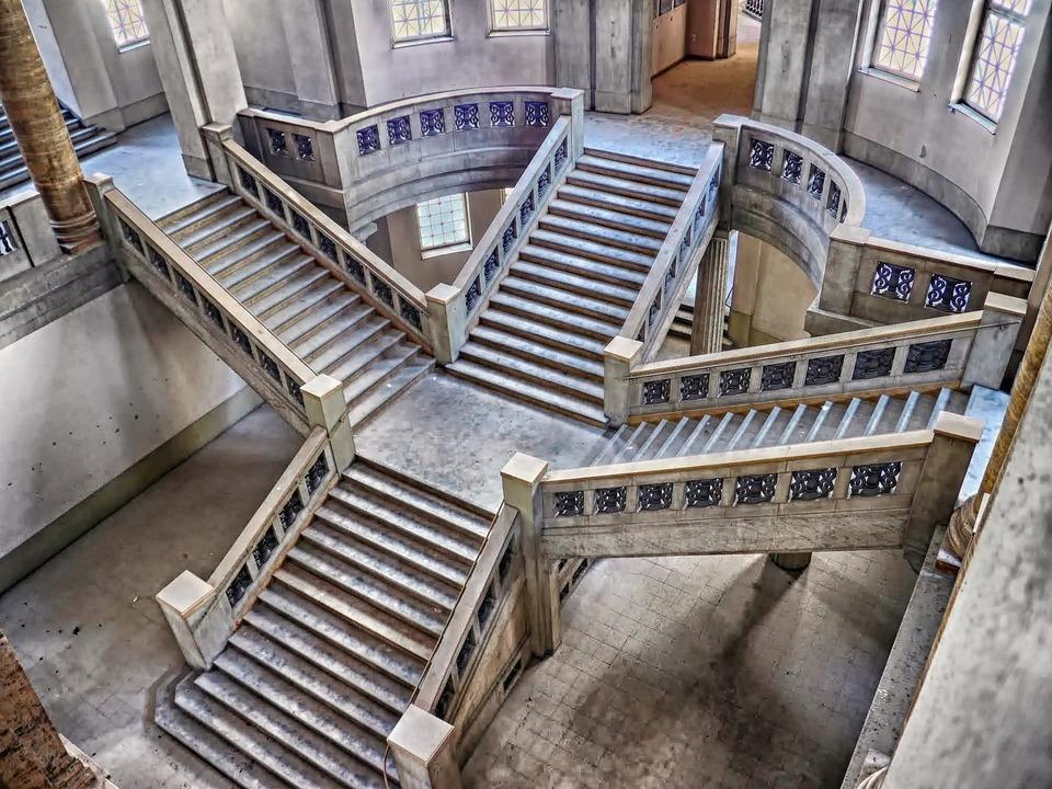 escalera escaleras edificios interior hdr