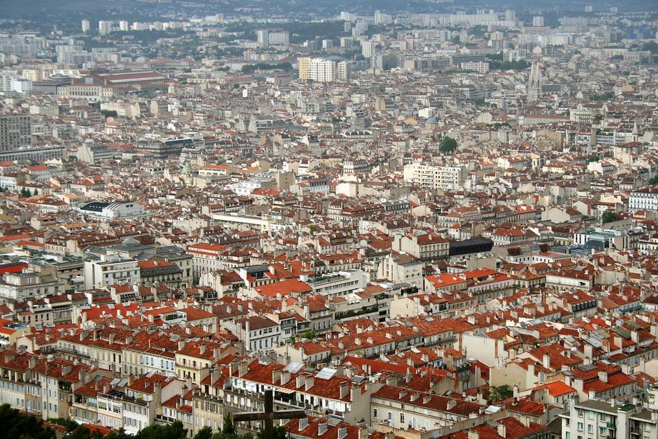 Miasto, Marsylia, Francja