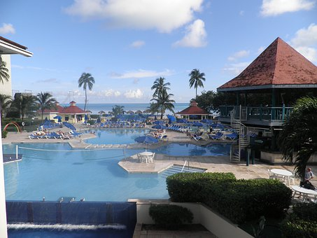 Pool Hotel Ocean Tropical Bahamas Beach Is