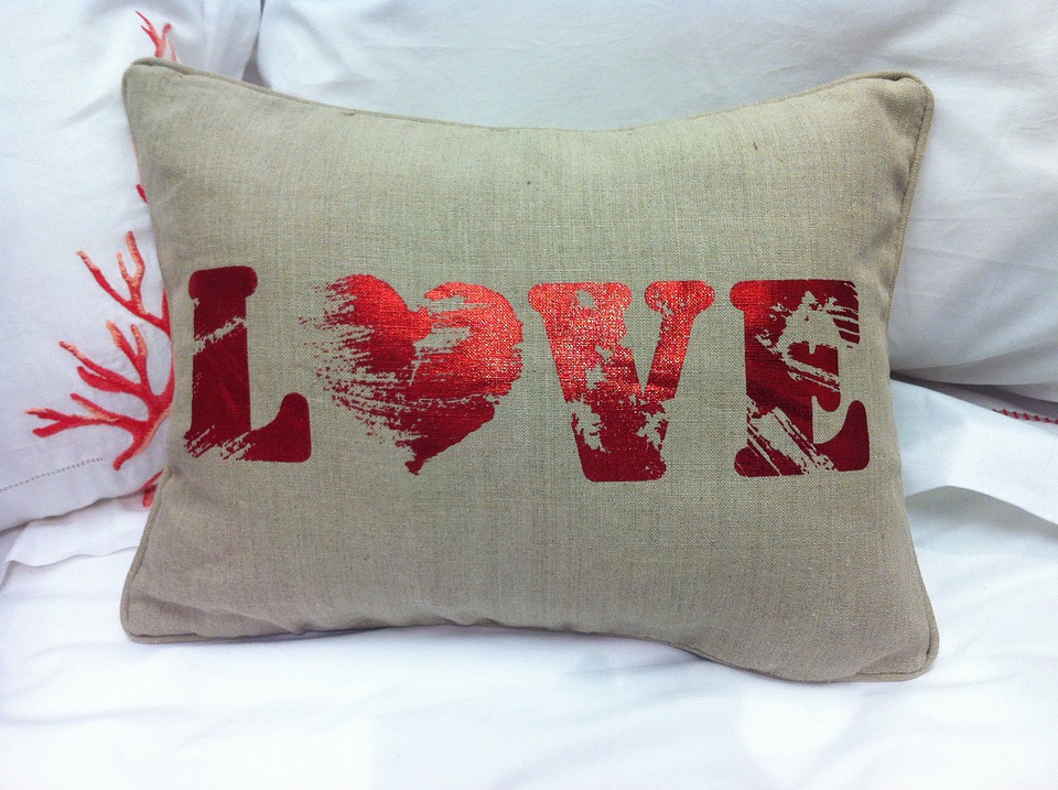 Amour, Coussin, Garniture, Coussins