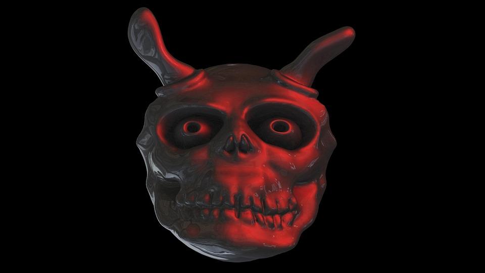 Diabo, Fantasma, Face, Estranho, Satanás, Daemon