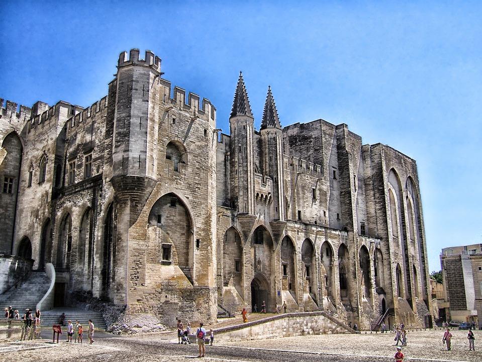 Palais Des Papes, Avignon, Franciaország, Hdr, Palace