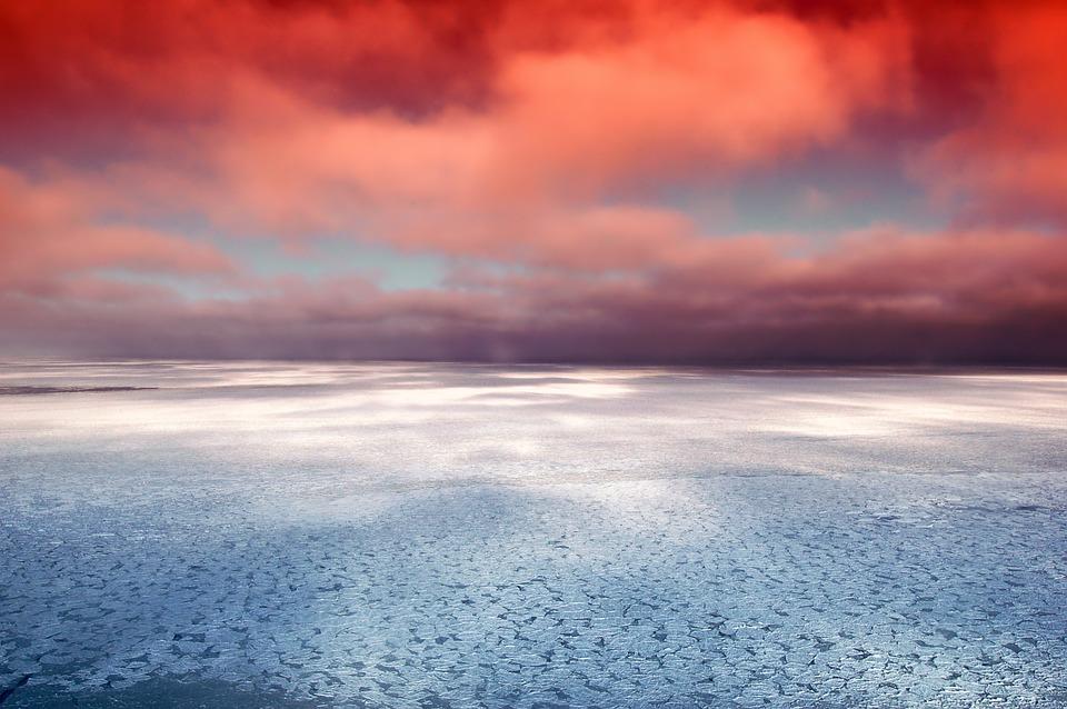 Zatoki Hudsona, Kanada, Morze, Ocean, Lód, Odbicia