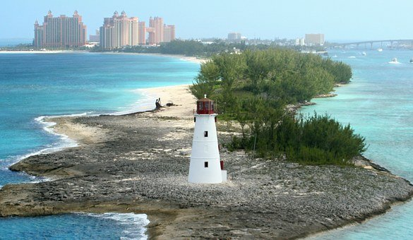 Lighthouse Bahamas Nassau Island Atlantis