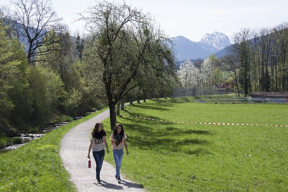 Spring, Sunshine, May, Mountains, Wendelstein, Bach
