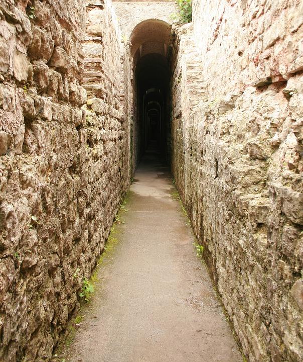 Labirinto, Wall, Pietre, Via, Muro Di Pietra
