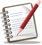 notepad, memo, pencil