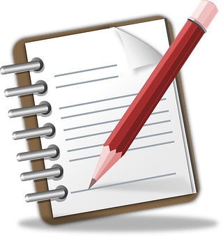 Notizblock Memo Bleistift Schreiben Hinwei