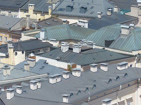 Roofs, City View, Salzburg, From Above