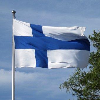 Suomen Lippu Siniristilippu Suomi Lippu Po