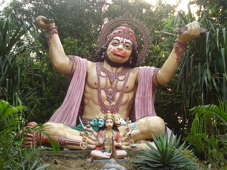 Hanuman, Hindu God, India, Religious