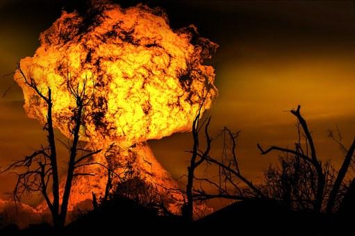 Explosion, Fireball, Fire, Brand