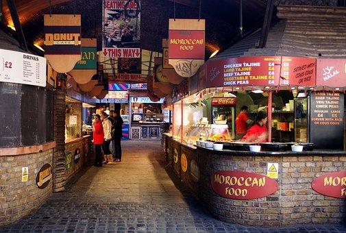 ロンドン, イングランド, 飲食店, カフェ, 食品, 泊, 外, 市, 都市