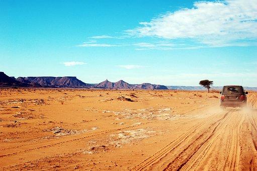 Maroc, Afrique, Rallye, Désert, Marroc