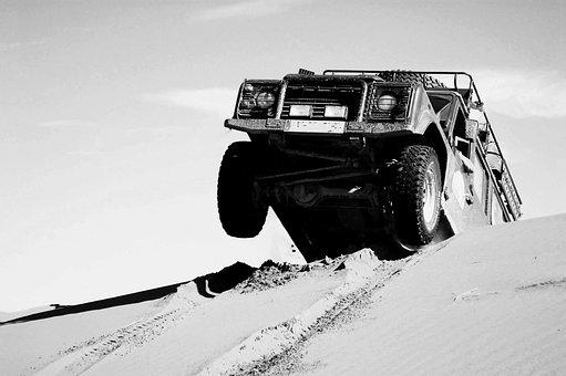 モロッコ, アフリカ, 砂漠, Marroc, 砂, 車, 砂丘, すべての地形