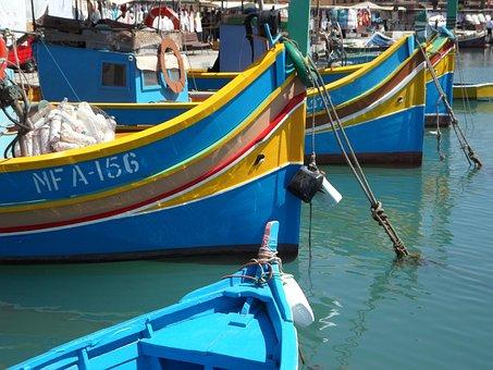 Marsaxlokk, Port, Luzzu, Uzzus, Malte