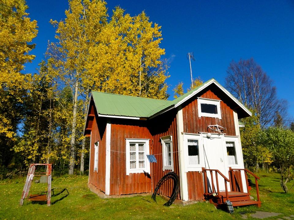 Kostenloses foto finnland mökki haus herbst kostenloses bild
