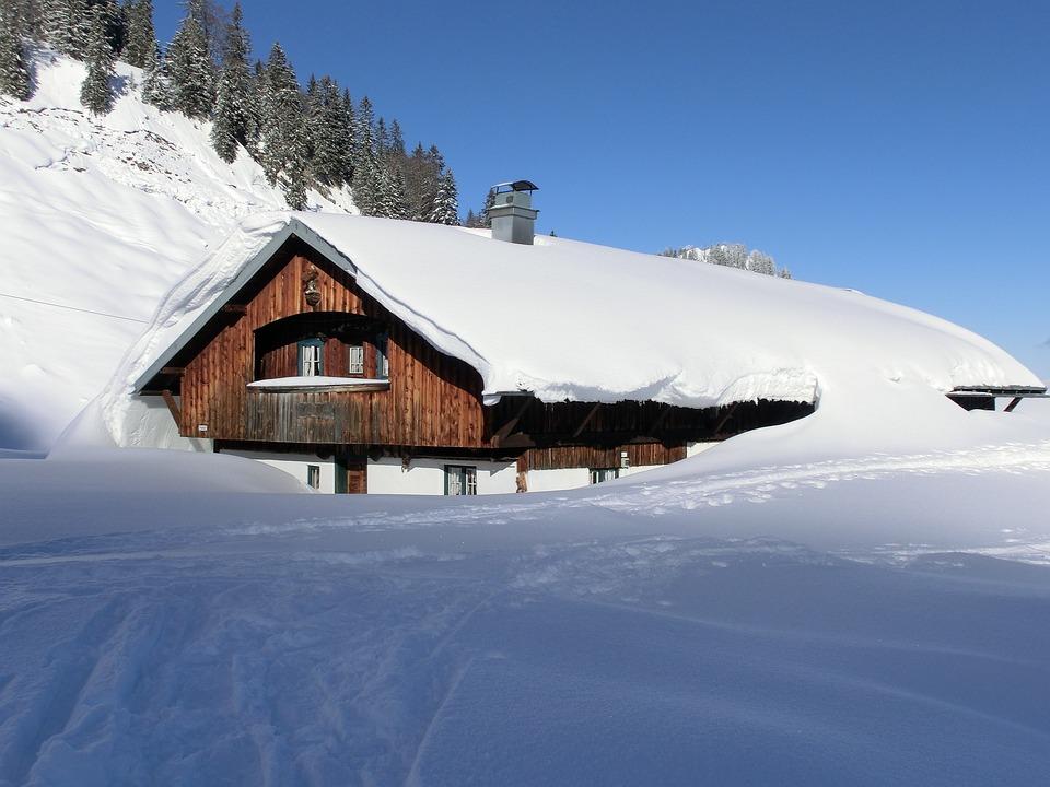 Kış Karlı Ev Pixabayde ücretsiz Fotoğraf