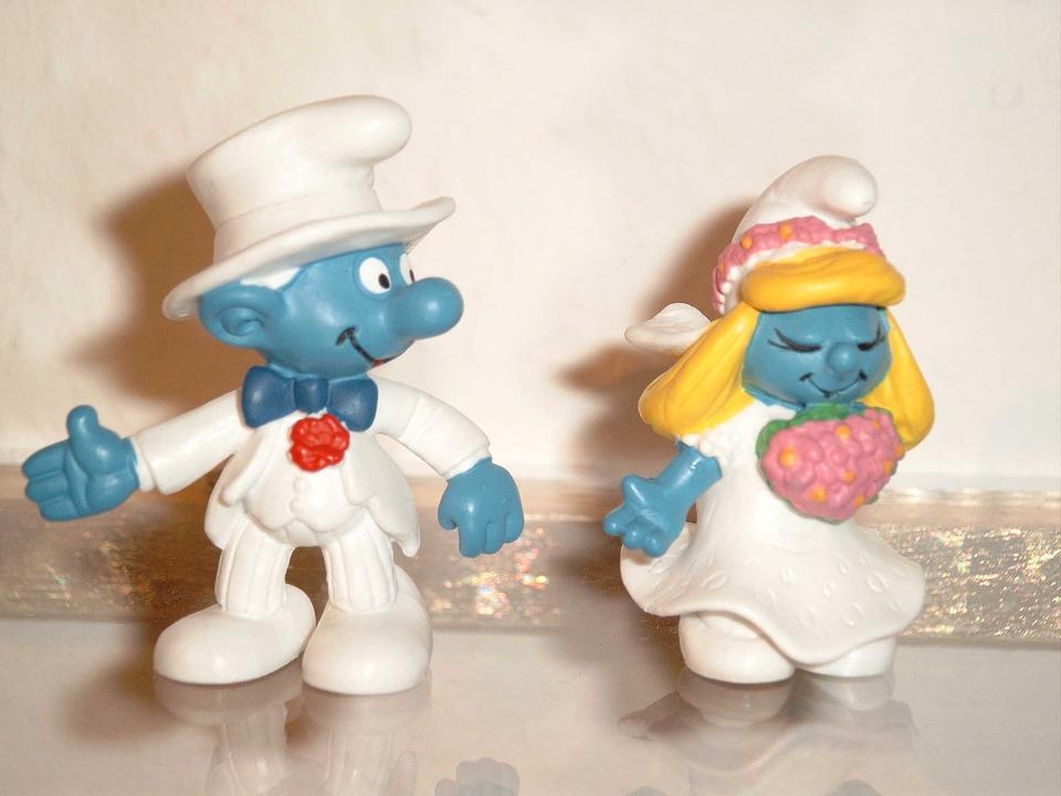 Brautpaar Hochzeit Schlümpfe Kostenloses Foto Auf Pixabay