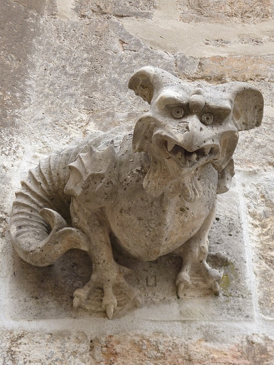 Gargoyle, Middle Ages, Mythical Creatures, Mythical