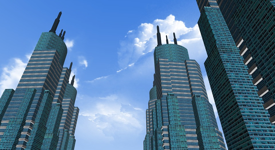 Free Photo City Building Sky Cloud Tower Free Image On