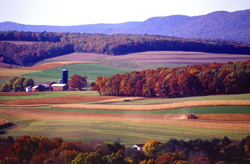 Pennsylvania, Landscape, Scenic, Farm, Rural, Tractor
