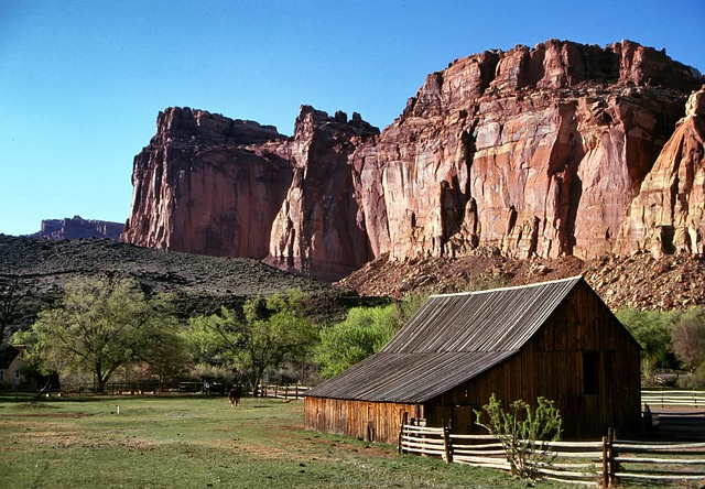 Free Photo Utah Mountains Barn Fence Ranch Free