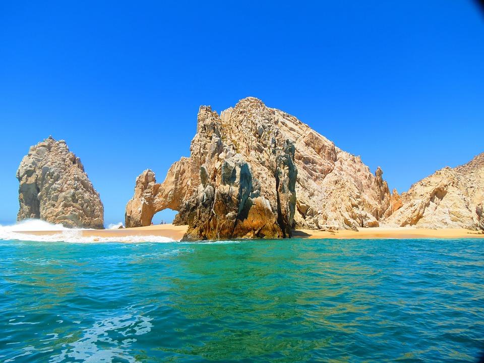 El Arco, Cabo, Meksyk, Beach, Ocean, Niebo, Wody