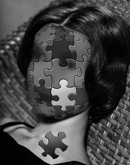 Puzzle, Incomplete, Face, Woman, Absurd