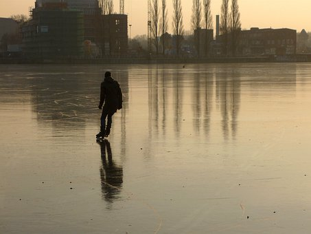 Rummelsburg Bay, Berlin, Winter, Ice