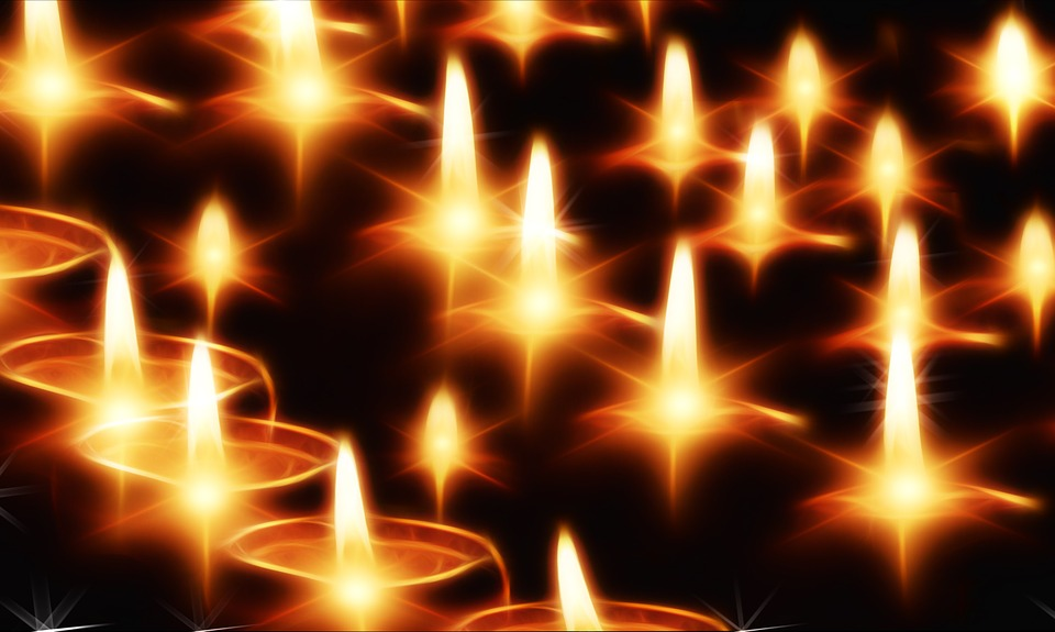 Kerzen, Licht, Lichter, Abend, Advent, Christfest
