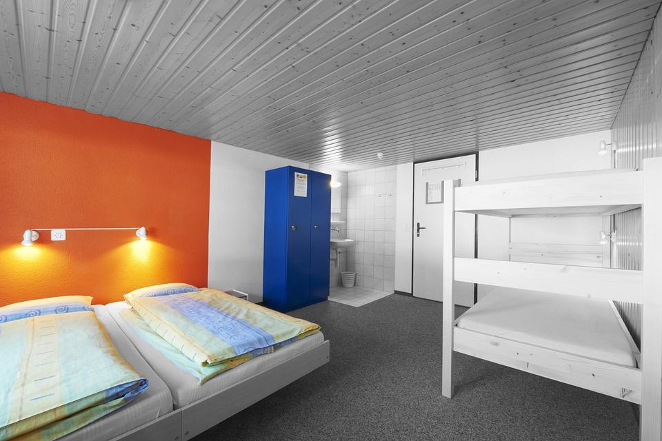 Кровати, Комната, Хостел