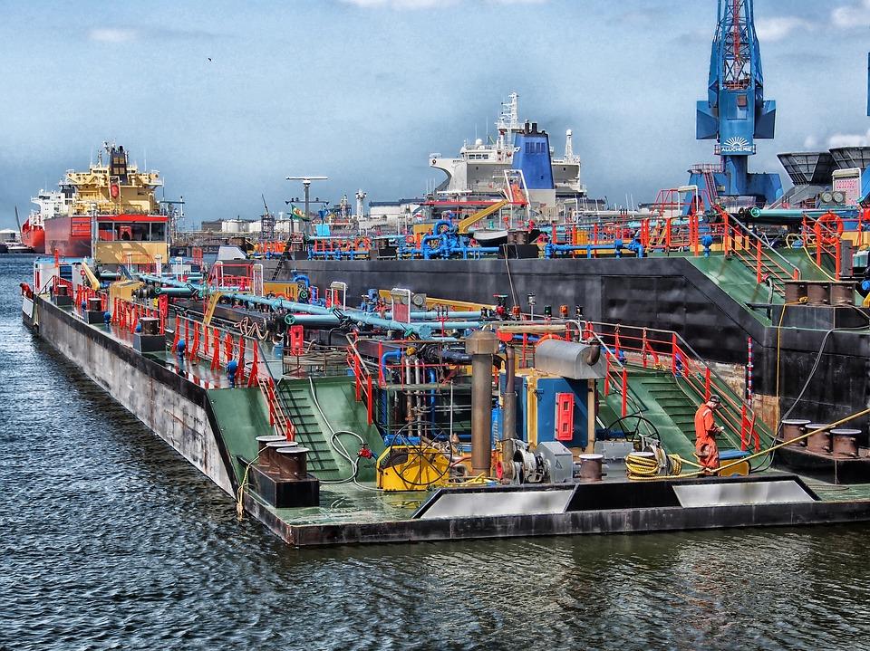 Rotterdam, Países Bajos, Puerto, Bahía, El Agua