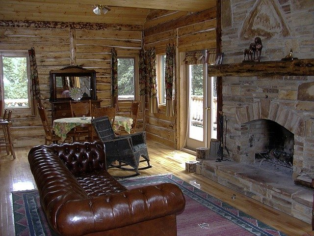 Free photo: Western, Country Style, Fireplace - Free Image ...