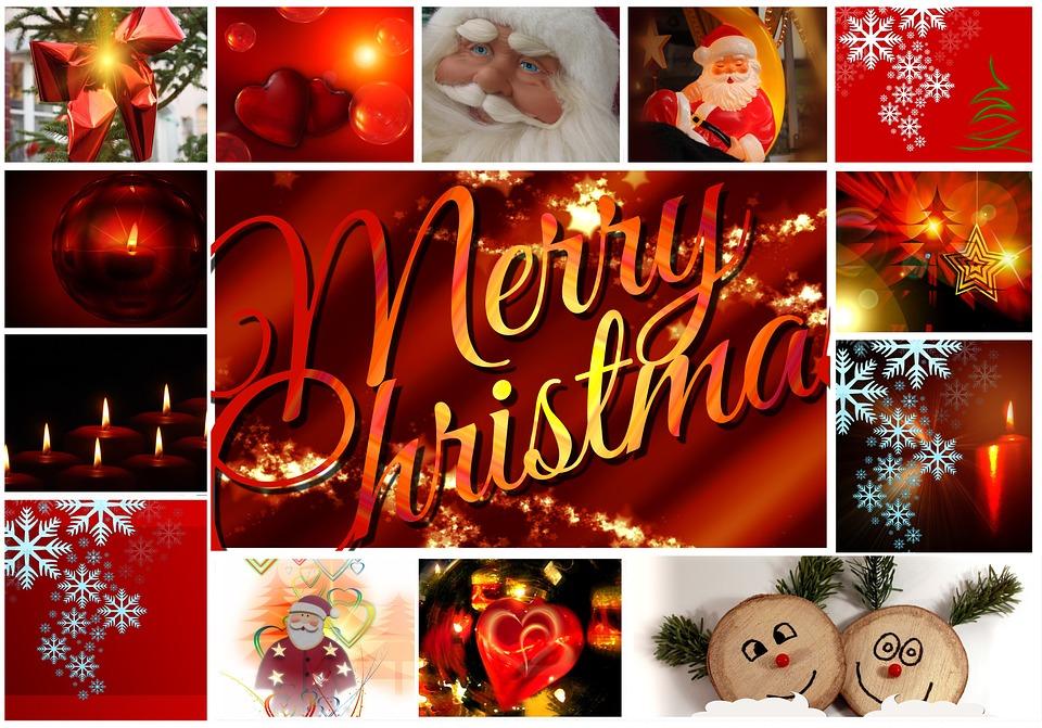postcard greeting card collage christmas