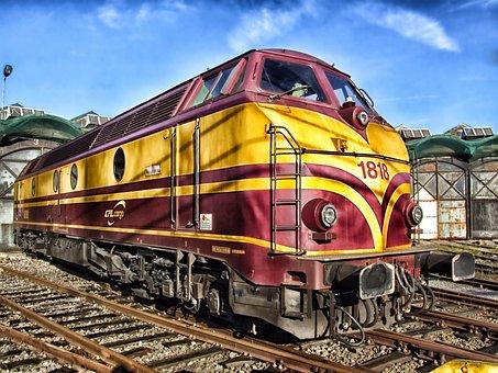 Train, Luxembourg, Locomotive, Railroad