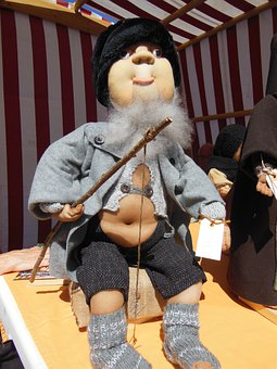 Sock Doll, Crafts, Old Fisherman, Funny