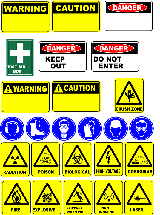 Danger Signs Safety Free Vector Graphic On Pixabay