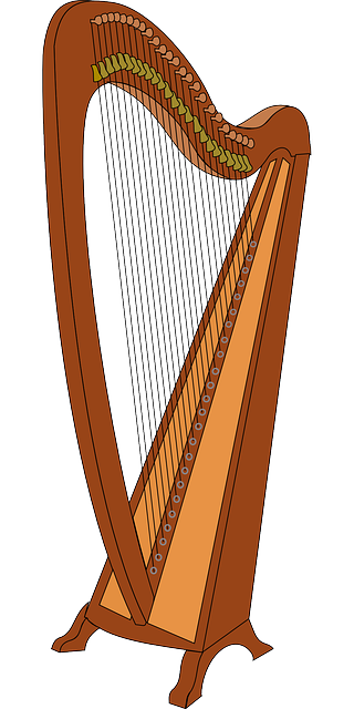 free vector graphic  harp  music  musical instrument - free image on pixabay
