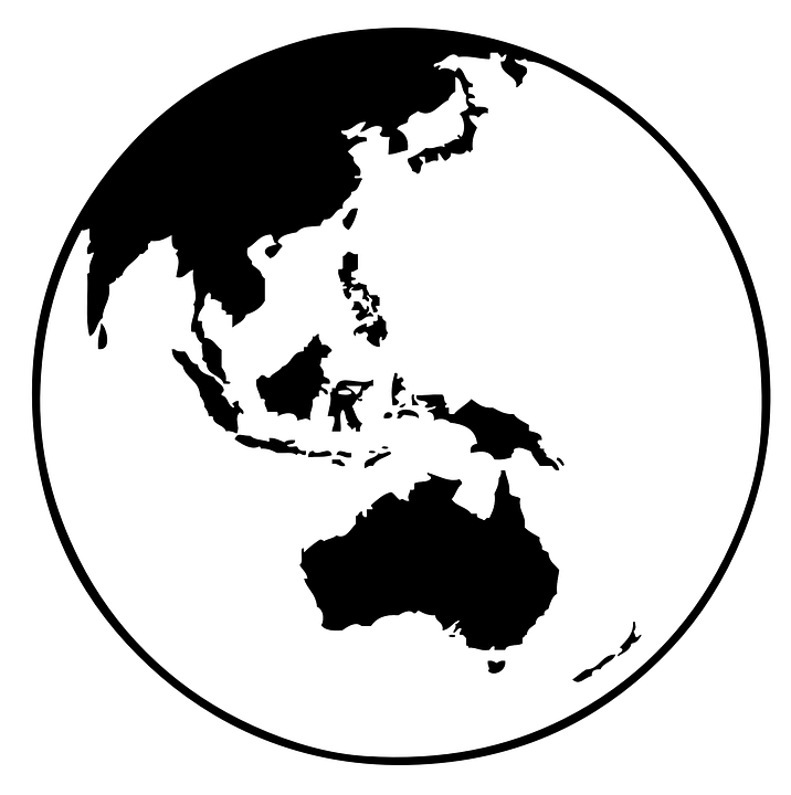 Earth map globe free vector graphic on pixabay earth map globe world australia asia oceania gumiabroncs Gallery