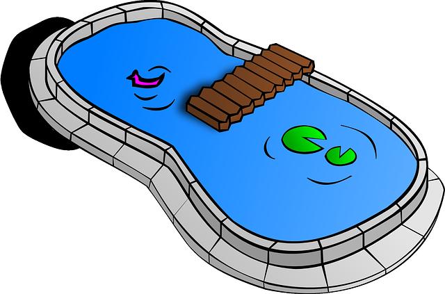 Kolam Kolam Ikan Kolam Taman Gambar Png