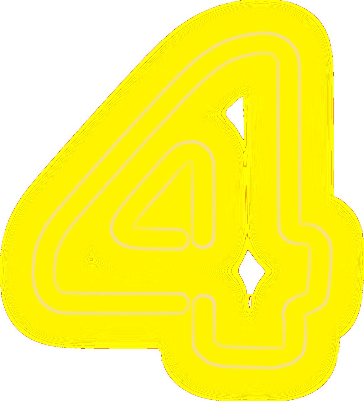Прикольная картинка, картинки цифра 4 желтая