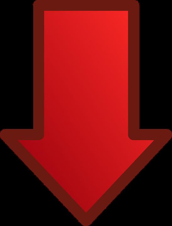 Roter Pfeil Nach Unten