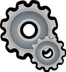 cogwheel, gear, gearwheel