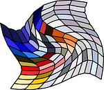 mosaic, grid, warped