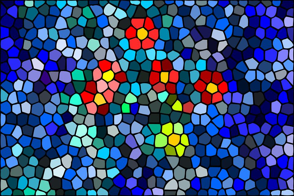 mosaico blue padrões gráfico vetorial grátis no pixabay