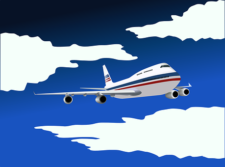 Airplane Aircraft Airline Plane Boeing 747
